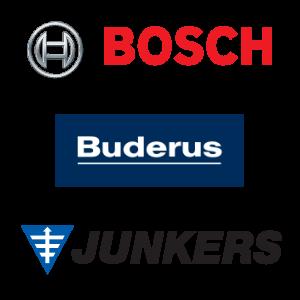Drei Logo Marken: Bosch - Buderus - Junkers